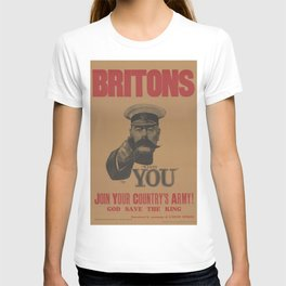 Vintage British First World War Poster - Kitchener Wants You to Join your Country's Army (1914) T-shirt