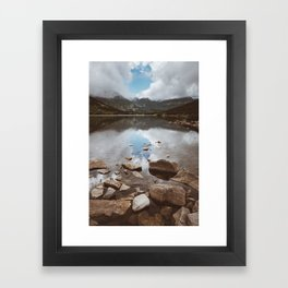 Mountain Lake - Landscape and Nature Photography Framed Art Print