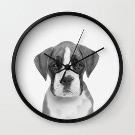 German Boxer Puppy Wall Clock