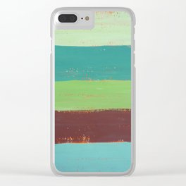 Abstract Painting - Horizontal Stripes Clear iPhone Case