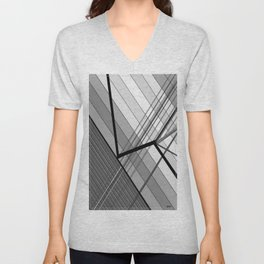 Gray Geometry 2 Unisex V-Neck