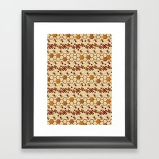 Honeycomb and Bees Framed Art Print