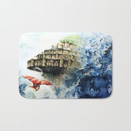 """The castle in the sky"" Bath Mat"