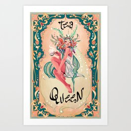 Tea Queen Art Print