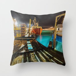 Light in the Wharf Throw Pillow