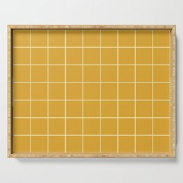 9x Yellow Grid Lines Serving Tray