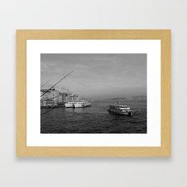 Bosphorus view from Galata Bridge Framed Art Print