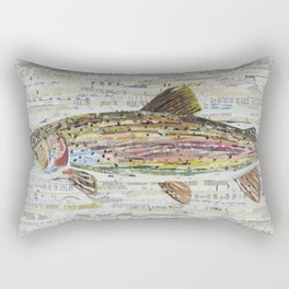 Rainbow Trout Collage by C.E. White Rectangular Pillow