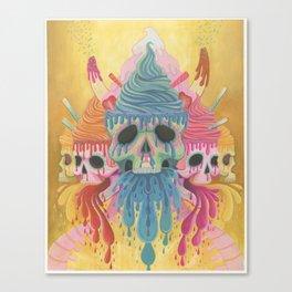 Sundae Skulls  Canvas Print