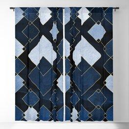 Blue Nebula Blackout Curtain