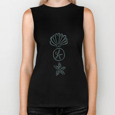 Abstract Sea Creatures II Biker Tank