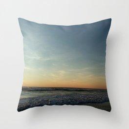 Oceanic landscape: Lacanau  12 Throw Pillow