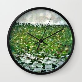Lily Pads On The River Wall Clock