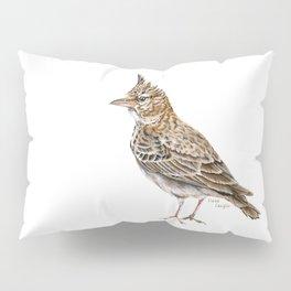 Galerida cristata, Crested lark traditional artwork Pillow Sham