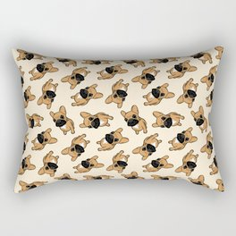Fawn Frenchie Puppy Rectangular Pillow