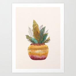 Watercolor botanicals 1 Art Print