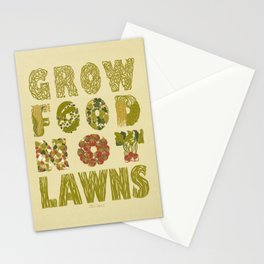 Grow Food Not Lawns Stationery Cards