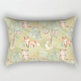Woodland Nursery - Woodland Friends Rectangular Pillow