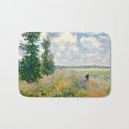 Poppy Fields near Argenteuil by Claude Monet Bath Mat