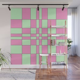 Intersections Pink and Green Wall Mural