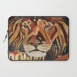 Lion Vector In Cubist Style Laptop Sleeve