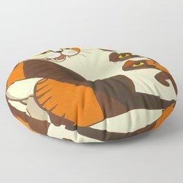 Inagaki Tomoo Vintage Japanese Woodblock print mid century Modern Cubism Art Cats Feline Floor Pillow