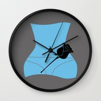 american beauty Wall Clocks featuring American Beauty by FilmsQuiz
