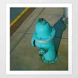 Turquoise Hydrant Art Print