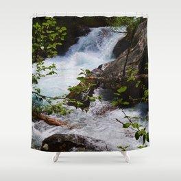 Geraldine Waterfall located in Jasper National Park Shower Curtain