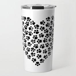 Paw Print Love Travel Mug