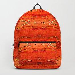 Orange Aztec Pattern 2 Backpack