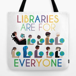 Rainbow Libraries Are For Everyone: Globes Tote Bag
