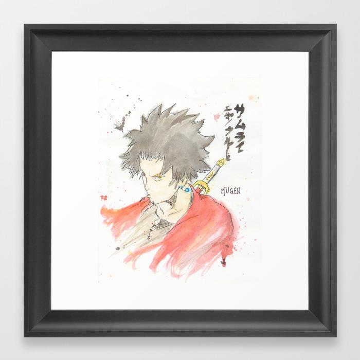 Samurai Champloo Mugen Watercolour Framed Art Print By Claien Society6