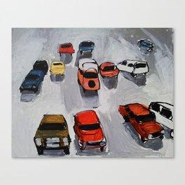 Rainy parking Canvas Print