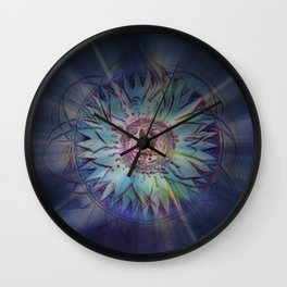 Ace Of Wands Wall Clock