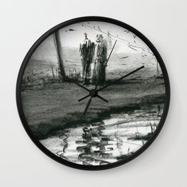 Ink and Carbon Pencil Wall Clock