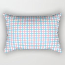 Queer Plaid - Trans Gingham Rectangular Pillow