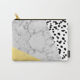 Marble Gold Dots - modern hipster trendy shiny gold foil cell phone case iphone dorm college Carry-All Pouch