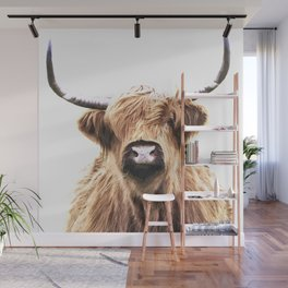 Highland Cow Portrait Wall Mural