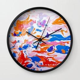 plastic wave Wall Clock