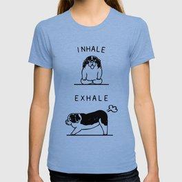 Inhale Exhale  St. Bernard T-shirt
