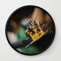 bass Wall Clocks featuring Bass by Gaby Mabromata