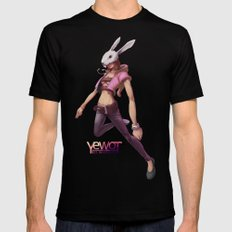 White Rabbit Galaxy Mens Fitted Tee Black MEDIUM