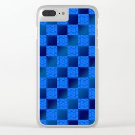 Funky Check (Waterworld) Clear iPhone Case