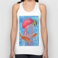 jelly fish Tank Tops featuring Jelly Fish by Julie M Studios
