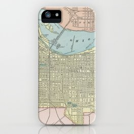 Vintage Map of Louisville KY (1901) iPhone Case
