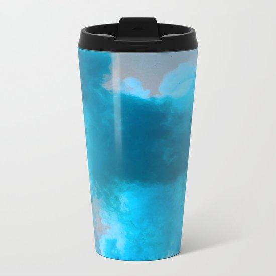 Blue smoke Metal Travel Mug