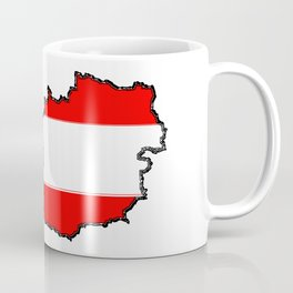 Austria Map with Austrian Flag Coffee Mug