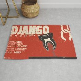 Django Unchained, Quentin Tarantino, alternative movie poster, Leonardo DiCaprio, Jamie Foxx Rug