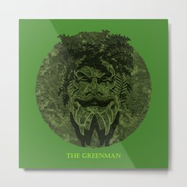 THE GREENMAN Metal Print